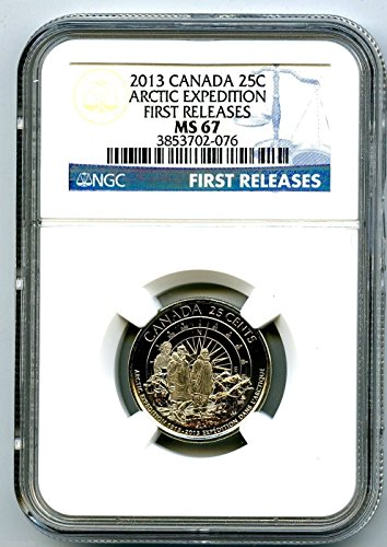 2013 Canada 100th Anniversary Arctic Expedition Royal Canadian Mint TOP POPULATION Quarter MS67 ()
