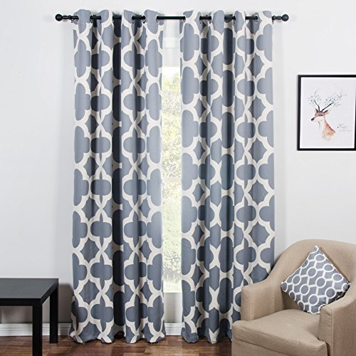 Top Finel 85% Blackout Curtains for Bedroom Thermal Insulated Window Curtains 54x96 Inch Room Darkening Curtains Grommet Top Window Treatments, 2 Panels, Grey