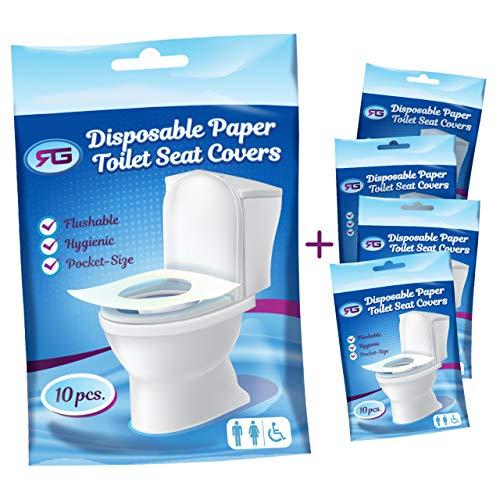 Amazon.com: Disposable Toilet Seat Covers Flushable Paper Travel