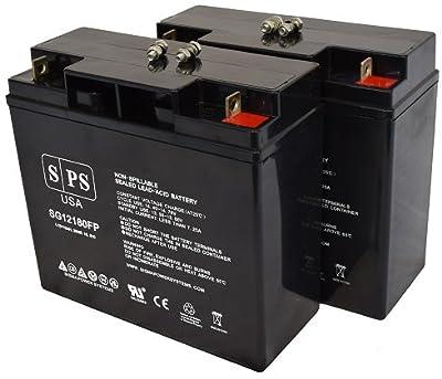 Replacement Battery Jump N Carry JNC1224 Jump Starter 12V 18Ah Jump Starter Battery -( SPS Brand) - Pack of 2