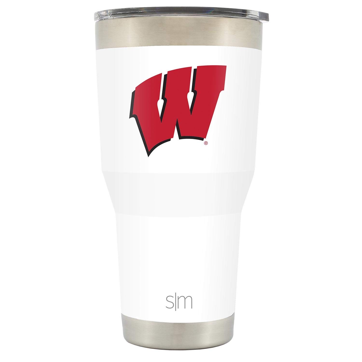 677d8c1cf3e Simple Modern University of Wisconsin 30oz Cruiser Tumbler - Vacuum  Insulated Stainless Steel Travel Mug - Badgers Tailgating Hydro Cup College  Flask: ...