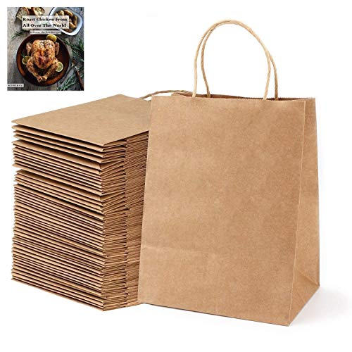 Brown Paper Bags with Handles - 50Pc Gift Bags Bulk 8