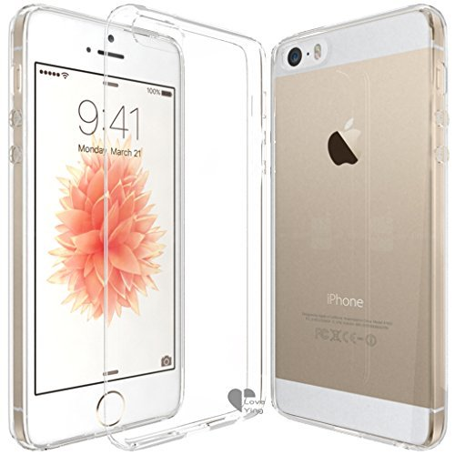 iPhone SE,iPhone 5SE case Love Ying [Crystal Clear] Ultra[Slim Thin][Anti-Scratches]Flexible TPU Gel Rubber Soft Skin Silicone Protective Case Cover for Apple iPhone SE/iPhone - Bomb Lip Front