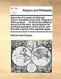 Specimen of a Poem on God and Nature Translated from Card Polignac's Anti-Lucretius, Melchior de Polignac, 1170126685