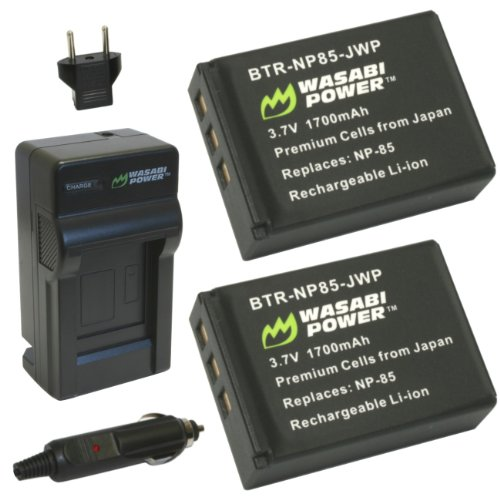 Price comparison product image Wasabi Power Battery (2-Pack) and Charger for Toshiba PA3985 and Toshiba Camileo X200,  X400,  X416,  Z100