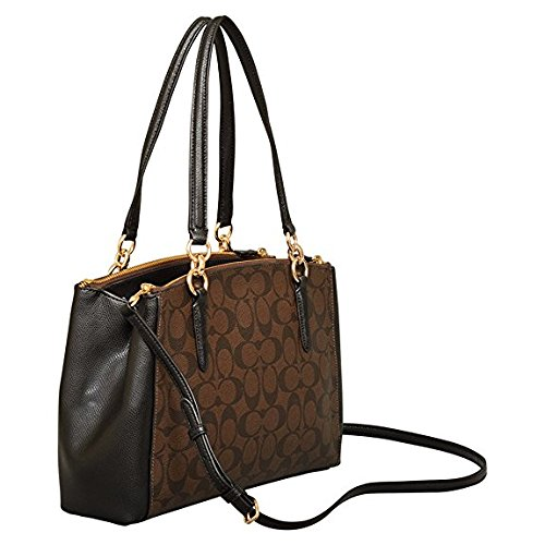 Coach in Signature Black Christie Small Brown Carryall qPqS1