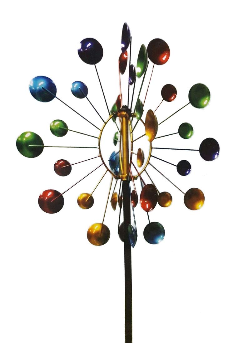 MS Imports 7 Ft Colorful Rays Kinetic Windmill - 24 in Diameter by MS Imports (Image #1)