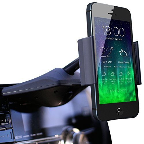 Koomus CD-Air CD Slot Mount Universal CD Slot Smartphone Car Mount Holder Cradle for iPhone 6 6 5S 5C 5 4S 4 iPod touch Samsung Galaxy S5 S4 S3 Note 2 Note 3 Nexus S Motorola Droid Razr HD Maxx Nokia Lumia 920 LG Optimus G HTC One X S...