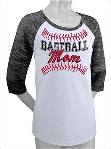 (Hip Together Baseball Mom Raglan (Large))