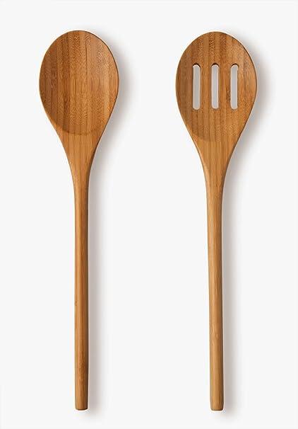 UH Choice Calidad – Cubiertos para ensalada (2 piezas, bambú, L 29.5 cm