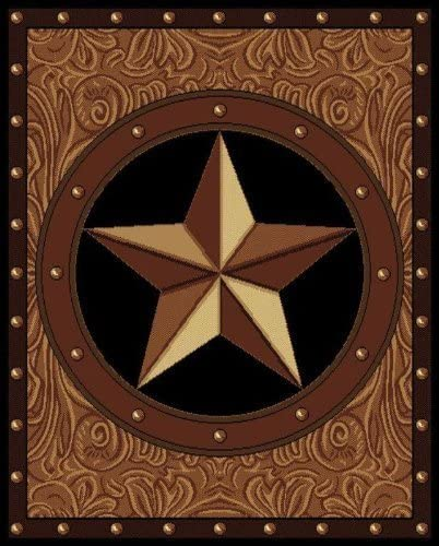 United Weavers of America Legends Collection Ranch Star Rug – 5ft. 3in. x 7ft 2in., Multicolor, Olefin Rug with Southwest Patter. Synthetic Indoor Rugs