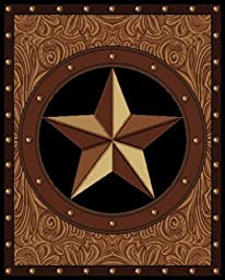 United Weavers Legends Collection Ranch Star 5-Feet 3-Inch by 7-Feet 2-Inch Rug