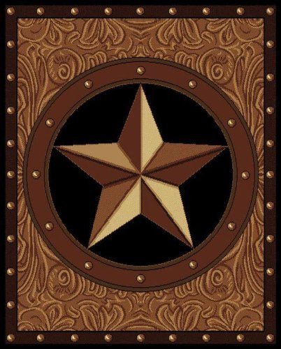 - United Weavers of America Legends Collection Ranch Star Rug - 5ft. 3in. x 7ft 2in., Multicolor, Olefin Rug with Southwest Patter. Synthetic Indoor Rugs