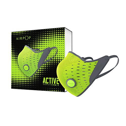 AirPOP ACTIVE 3D AIR-KNIT FABRIC PM 2.5 MASK 1 Mask+2 Filter (Yellow/Black) by AirPOP ACTIVE