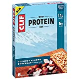 CLIF Whey Protein - Snack Bar - Coconut Almond Chocolate - 1.98 Ounce, 8 Count