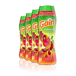 Gain Fireworks In-wash Scent Booster Beads, Tropical Sunrise, 10 Ounce , Pack of 4