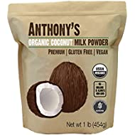 Organic Coconut Milk Powder by Anthony's (1lb), Gluten Free, Vegan & Dairy Free