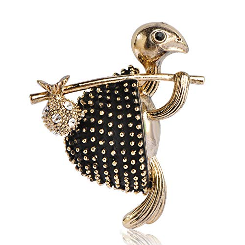 (SODIAL Vintage Style Walking Tortoise Brooch Women Kids Clothes Accessories Crystals Turtle Animal Brooches Suit Corsage Pins)