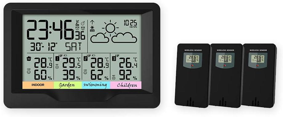 2//3 Aussensensoren Funk Thermometer Luftfeuchte Wetterstation Hygrometer