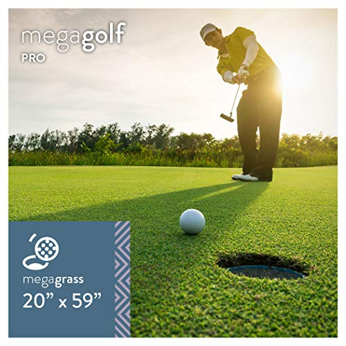 MEGAGRASS 20 x 59 Inches MegaGolf Pro Artificial Grass for Putting Green Golf Practice Mat - Indoor and Outdoor Synthetic Fake Grass for Golf Games, Pet, and Backyard - Artificial Greens Grass Putting