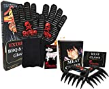 Grillin Chill Gear Meat Claws – Best Bear Claw Pulled Pork Meat Shredders in BBQ Grill Accessories +Extreme Heat Resistant Grill Gloves, Heavy Duty Aramid Fiber & Non Slip Silicone, Soft Cotton Liner Review