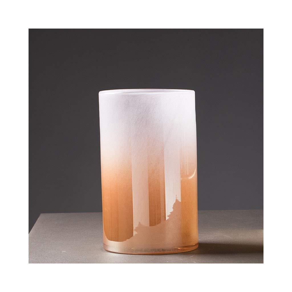 カラフルなガラス花瓶現代のミニマリストの装飾 (Size : 15cm*30cm) B07SVDYFGW  15cm*30cm