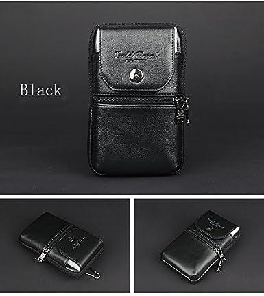 Amazon.com: Fanny Pack, de piel con cierre cartera bolsa ...