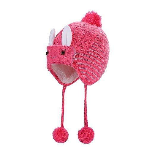 Scrox 1x Peluche Gorra Bebé Niños Niñas Forma de Conejo Sombrero ...