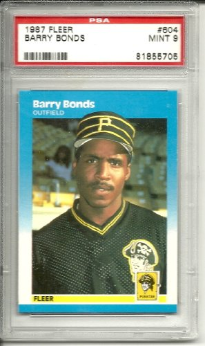 (1987 fleer barry bonds rookie graded psa 9)