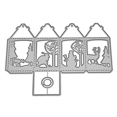 DIY 3D Caramelo Caja de Regalo de Troqueles de Corte invitación de la Foto Tarjetas de