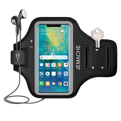 Mate 30 Pro, Mate 20 Pro Armband, JEMACHE Waterbestendig Running Oefening Workouts Gym Sport Arm Band voor Huawei Mate…