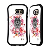 Official Monika Strigel Wolf Animals And Flowers Hybrid Case for Samsung Galaxy S7 edge