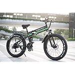 VOZCVOX-26-Pollici-Bici-elettrica-1000W-48V-Bici-MontagnaShimano-21velocitaFull-Suspensionvelocita-40kmh-Mileage-50-60km-con-Sedile-Posteriore