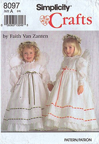 Angel Costume Without Halo (Simplicity Crafts Pattern 8097 ~ Child's Dress, Pinafore and Wings ~ Sizes 2-6)