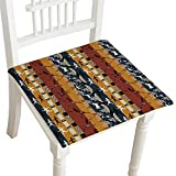 HuaWuhome Premium Chair Cushion Seamless African with Figures of Primitive People and Animals Cushions 16''x16''x2pcs