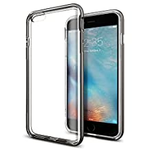 iPhone 6s Plus Case, iPhone 6 Plus Case, Spigen Neo Hybrid EX - Flexible Inner TPU and Reinforced Hard Frame for Apple iPhone 6S Plus / iPhone 6 Plus - Gunmetal