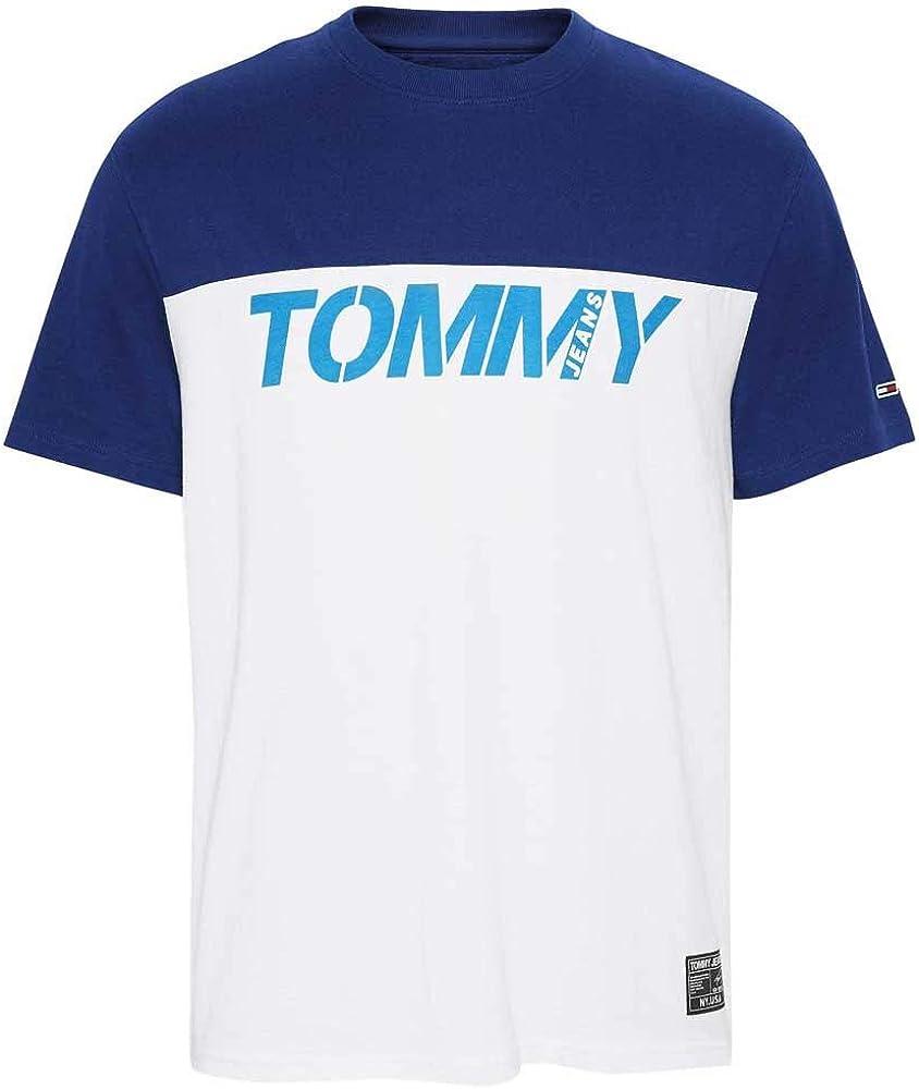 Camiseta Manga Corta para Hombre Tommy Jeans Colour-Blocked 8099-YBR (x-Large): Amazon.es: Ropa y accesorios