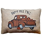 Arts & Crafts : Happy Fall Y'All Pillow Cover,Hongxin Rectangle Cushion Cover 12 X 18 Inches Throw Pillow Case Pillowcase