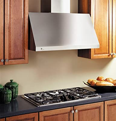 "GE JV966DSS Profile 36"" Stainless Steel Canopy Pro Style Wall Mount Range Hood"