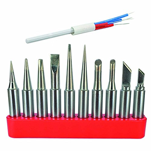TECKE 10X 900M Soldering iron tips with tip holder and A1321 Soldering Element Ceramic Heater For HAKKO 936,937,907 soldering station . Ceramic Iron Soldering Iron