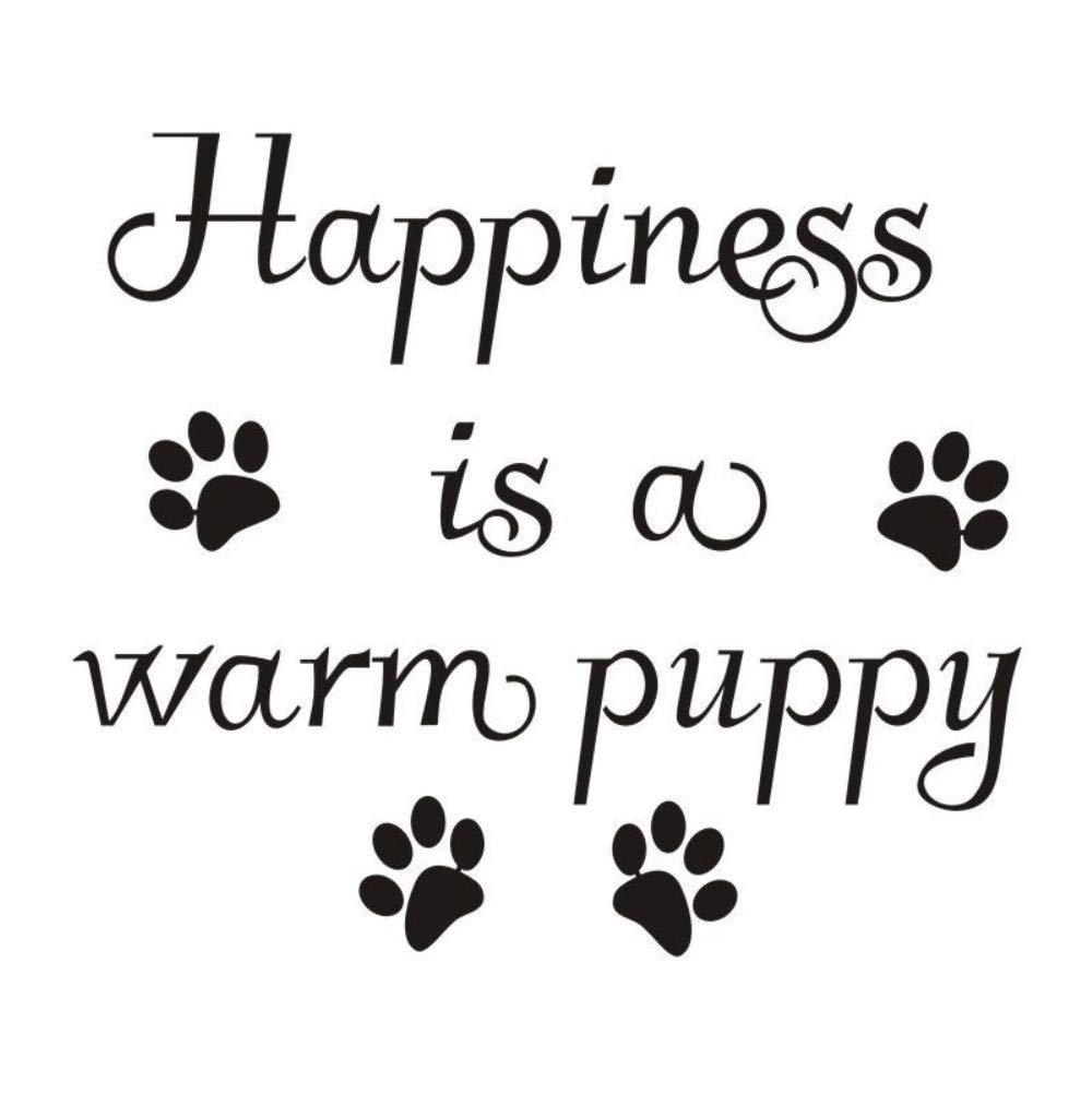 Perros impresión de la etiqueta engomada de la pata cita felicidad ...