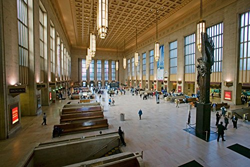 Interior view of 30th Street Station a national Register of Historic Places AMTRAK Train Station in Philadelphia PA Poster Print by Panoramic Images (24 x 18)