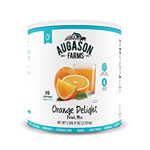 Augason Farms Orange Delight Drink Mix 5 lbs 11 oz No. 10 Can