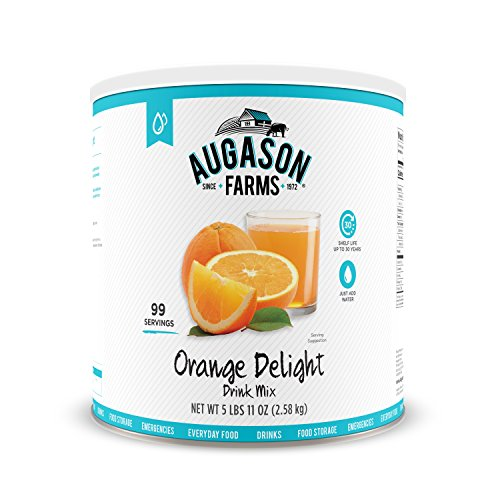 Augason Farms Orange Delight Drink Mix 5 Lbs 11 Oz No  10 Can