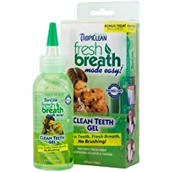 TropiClean Fresh Breath Clean Teeth Gel Kit 4 oz