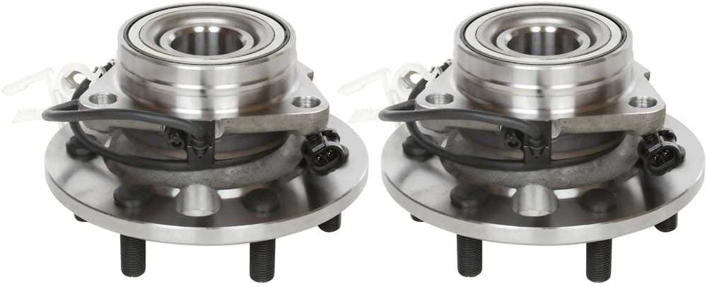 AutoShack HB615026PR Pair of 2 Wheel Bearing Hub Front Driver and Passenger Side Wheel Hub Bearing and Assembly 6 Lugs with ABS Replacement for 1995-2000 Chevrolet Tahoe 1995-1999 GMC Yukon