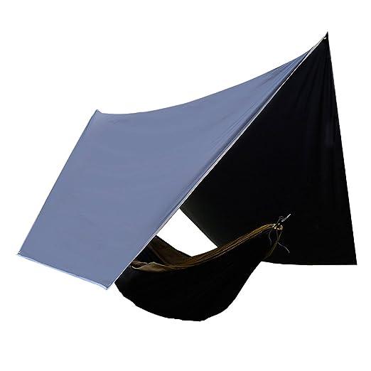H/ängematte Regenfliege GEERTOP 2-4 Personen Gro/ße Ultraleicht Wasserdichte Sonnensegel Tragbare Zelt Shelter Plane UV-best/ändiger Sonnenschutz Camping-Jagd-Regenschutz-Unterstand