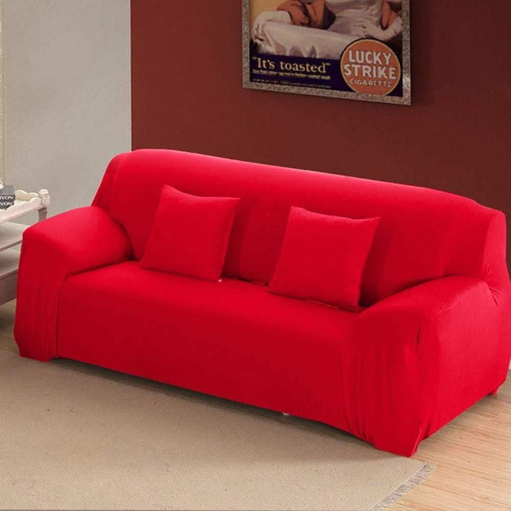 CCMOO Funda de sofá de Color Liso Funda de sofá de Asiento elástico Funda de sofá Fundas Funiture, Rojo, 2 Piezas 45x45cm