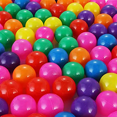 Fealay 100Pcs Colorful Ocean Ball Soft Plastic Ball Pit Balls Swim Toys Gift for Baby Kids Tent Bathtub Paly (5.5cm): Sports & Outdoors