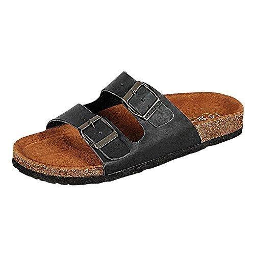 WestCoast Leo-03 women's 2-Strap Sport Soft Footbed Fashion Slide Sandals Black (Soft Footbed Womens Sandals)